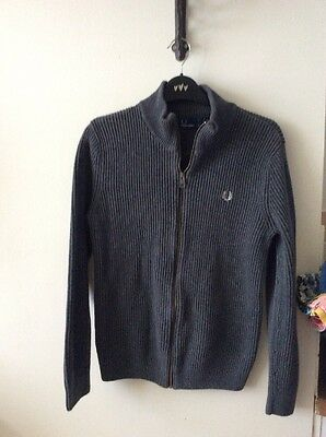 Boys Fred Perry Cardigan Youth Large Age 14 Years
