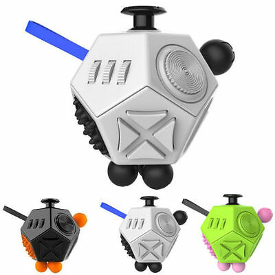 Fidget Cube II 12-Side Stress Relief Magic Cubes Toy For Adults & Kids ADHD Toys