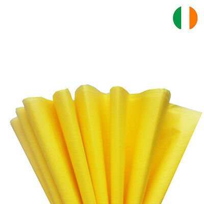"""Yellow Tissue Wrapping Paper 500 X 750 Mm 19 X 29""""-Top Quality - Ireland"""