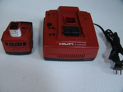 HILTI C 4/36-ACS 120v Li-ion Charger Auto Cooling System & 14V Battery(USED) #5