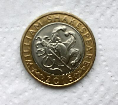 William Shakespeare 2 pound coin Comedies. Two Pound Coin £2.