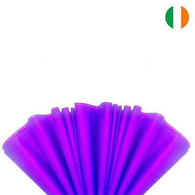 """10 sheets x PURPLE TISSUE WRAPPING PAPER 500 X 750 MM 19 X 29""""-TOP QUALITY"""