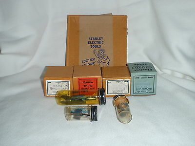 Vintage Stanley Electric Tools  Router Bit And Templet Lot  W/ Original Boxes