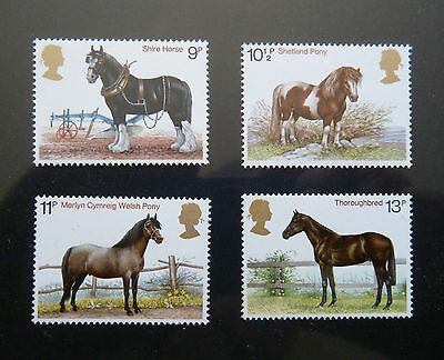 GB 1978 Issue - Full Mint Stamp Set - 'Horses'
