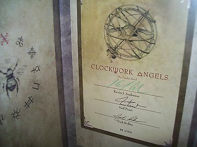 Rush Neil peart autographed Clockwork Angels Kevin J Anderson limited edition