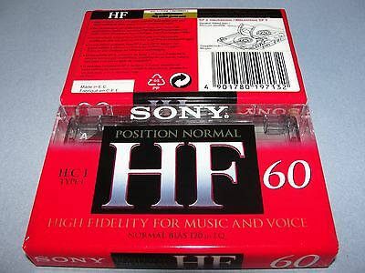 Audio Cassette Sony Hf60' Normal ..10 Pcs New Sealed