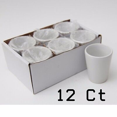 Blank Dye Sublimation Ceramic Shot Glass 1.5 oz (12 Units) - Mug / Vacuum Press