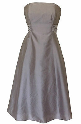 Monsoon DELPHINE Size 14 Gold Silk Dress Wedding Party Prom Evening