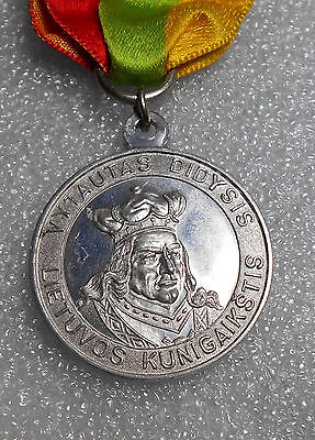 Medal Vytautas the Grand Duke of Lithuania 500m Death celebrationin Chicago 1930