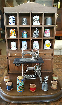 "Rare Vintage ""enesco Musical Thimble Display Hutch"" Plays We've Only Just Began"