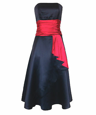 Monsoon BEXTER Size 18 Black Red Silk Ladies Dress Party Wedding Bridesmaid Prom