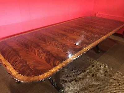 10.2ft GRAND REGENCY STYLE FLAME MAHOGANY DINING TABLE PRO FRENCH POLISHED