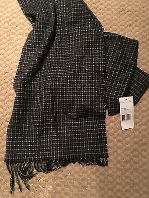Cashmere Men's Scarf - Bloomingdales Collection Black/Grey - New With Tags