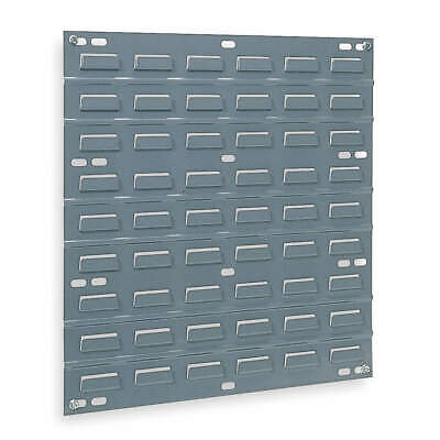"""AKRO-MILS Steel Louvered Panel,19"""" Overall H,0 Bins, 30618, Gray"""