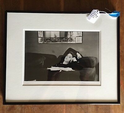 Alfred Wertheimer Authentic Signed Photo  Elvis Presley Relaxing Copyright 1987
