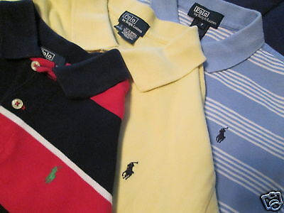 Polo Ralph Lauren Lot 3 Shirts - Blue/yellow/red-Blue  7 8 -