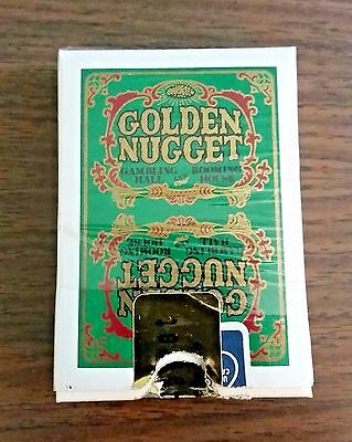 Vintage 80's Golden Nugget Casino Playing Cards Las Vegas Unmarked Gold Seal