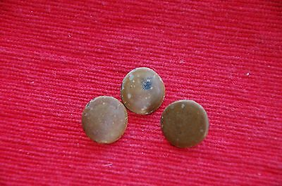 Victorian Brass Enamel Covered Buttons