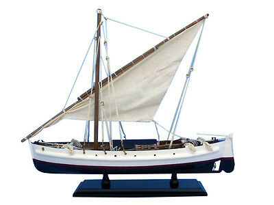 "Fishing Boat Second Wave Sloop 19""  Wooden Model Ship Assembled"