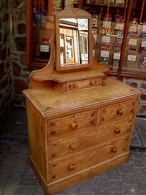 antique pine dressing table/ chest