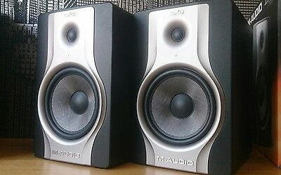 2x M-Audio BX8 Carbon Monitor Speakers