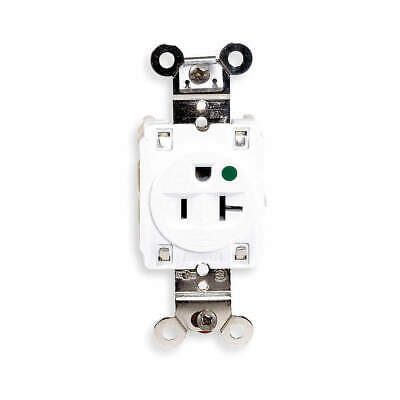 HUBBELL WIRING DEVICE-KELLEMS Receptacle,Single,20A,5-20R,125V,White, HBL8310W