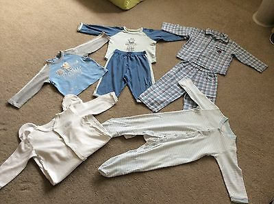 Baby Boys Pyjamas and Sleepsuits Bundle 12-18 Months M&S and other brands