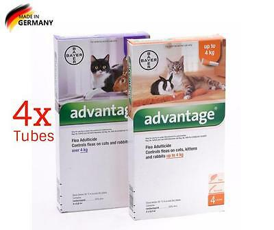 Advantag fleas for cats & Kittens Under/Up to4kg -4 Packs
