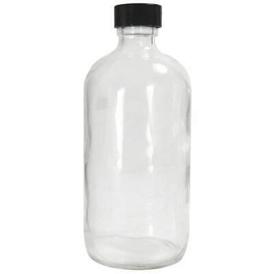 QORPAK Bottle,480mL,Glass,Narrow,PK12, GLC-01189