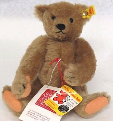 STEIFF Teddy Bear Margaret Woodbury Strong Museum 1904 Replica 0155/26 Jointed