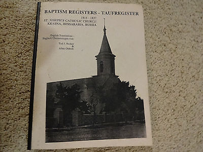 Rare Vintage Germans From Russia Baptism Registers 1814-1837 In English & German