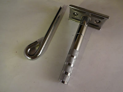 Vintage Institutional Psych Ward Double Edge Safety Razor With Key Lock