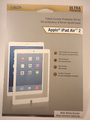 Writeright Screen Protector iPad Air 2 Fitted Framed Ultra Premium White, 1 Pack