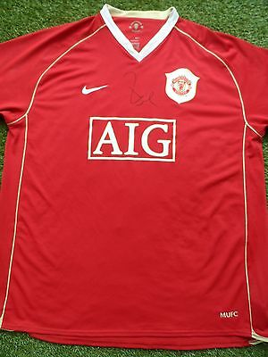 Paul Scholes Hand Signed Manchester United Football Shirt - COA - Autograph