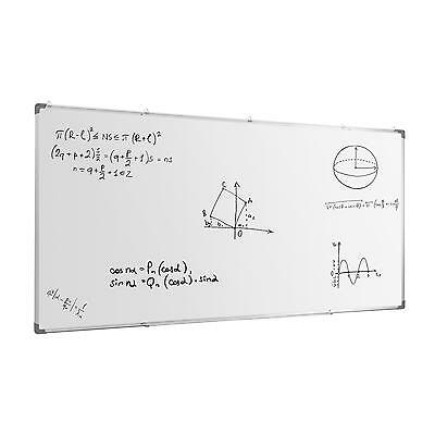 Large White Board 240 X 120 Cm Magnetic Light Frame Learning Presentation Office