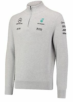 2017 OFFICIAL F1 Mercedes AMG Petronas Team Zip Jumper Sweater GREY Mens – NEW