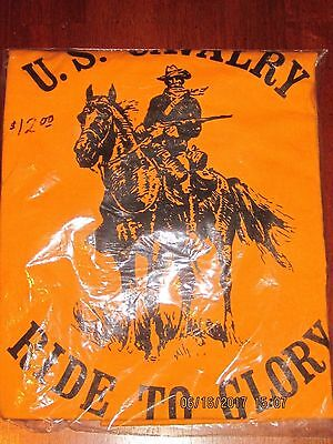 New In Package U.s. Cavalry Ride To Glory Xl T Shirt Fruit Of The Loom Nice Pc