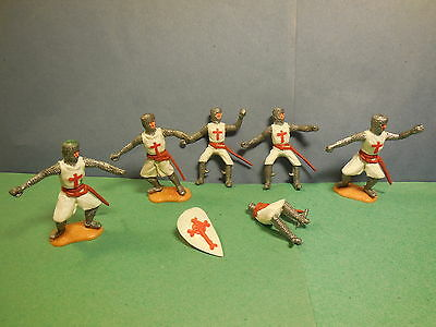 Vintage TIMPO Swoppet Medieval Crusaders Knights Plastic Toy Soldiers 1:32