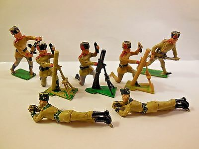 Vintage CHERILEA 60mm WW2 Russian Cossack Infantry Plastic Toy Soldiers 1:32
