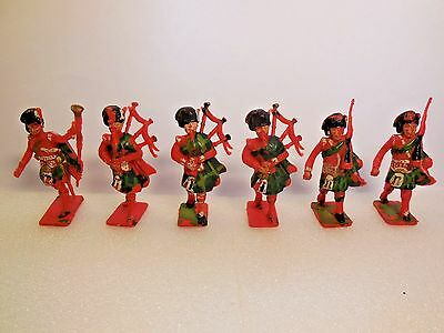 Vintage 70mm Cherilea Scottish Highland Pipers Royal Guards & Orchestra 1:32