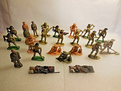 Vintage Timpo Solid Cast WW2 British Infantry Plastic Toy Soldiers 1:32