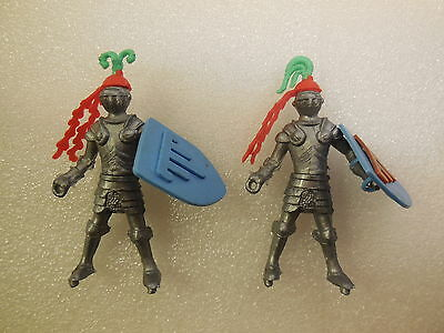 Cherilea Swoppet Medieval Knights Vintage Plastic Toy Soldiers 1:32