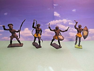 Vintage Cherilea African Natives Plastic Toy Soldiers 1:32