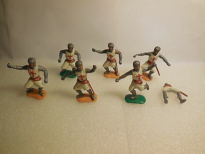 Vintage TIMPO Swoppet Medieval Crusader Knights Plastic Toy Soldiers 1:32