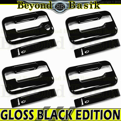 For Ford F150 F-150 2004-10~2013 2014 4 black Door Handle Covers Keypad w//o PSKH