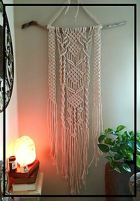 Large Bohemian Macrame Wall Hanging on Driftwood Branch