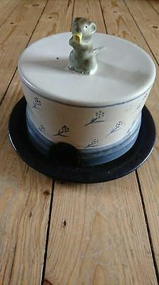 Cheese Dish With Lid - Ceramic - Mouse