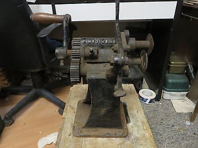 Vintage American Leather Cutter Machine (Made in St. Louis) - Used