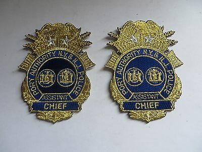 One Pair of Assistant Chief Port Authority NY & NJ Police Patches