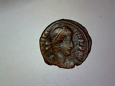 Ancient Late Roman Bronze coin 100-400 A.D.